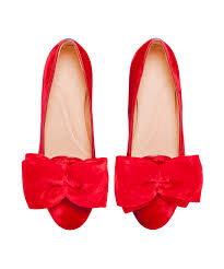 archibald red velvet slippers with bow flat shoes