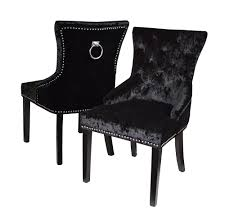 Pair Of Crushed Velvet Dining Chairs, Black Simple Living Vintner Country Style Ding Chairs Set Of 2 Corinne Linen Chair With Black Espresso Wood Caracole Classic Collar Up Gorees Fniture Opelika Al Chateau De Ville Cherry Roco Ding Chair Contemporary Beautifully Made In Italy Calia Bronze Draped Chair High End Luxury Design Rustic Sonoma Cross Back Stackable W Cushion Tinted Raw Ten Side 100 Michelle 2pack Cooper Roche Light Grey Velvet