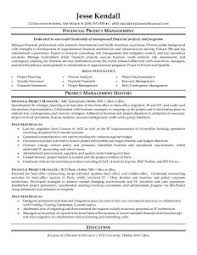 Project Management Resume Sample For Manager