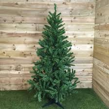 Christmas Tree 7ft by Funkybuys Tall Slim Snow White Colorado Spruce Artificial