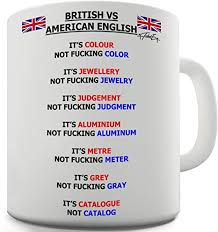 keramik becher vs american englische wörter