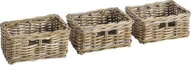 heine home korb set handgeflochten beige körbe aufbewahrung ordnung wohnaccessoires