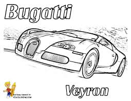 Bold N Bossy Bugatti Race Car Coloring Page You Can Print Out