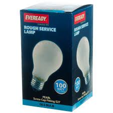 eveready service gls light bulb 100w es incandescent