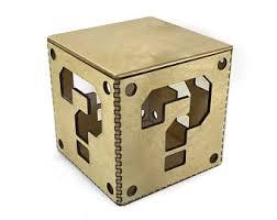 Mario Bros Question Block Lamp by Mario Question Box Etsy