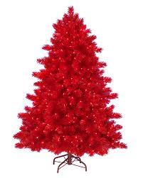 Sale On Pre Lit Slim Christmas Trees by 5 U0027 Ashley Red Christmas Tree With Clear Lights Christmas Tree Market