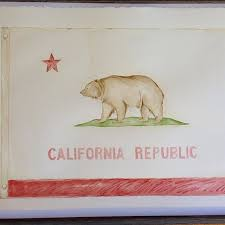 Golden Bear Flag Drawing