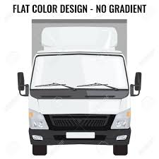 Vector Small Truck Front View. Cargo Delivery. Solid And Flat ...
