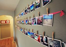 Decoration Decorating Corridor House Design With Hanging Photos On Wall String Ideas