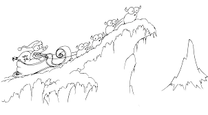 Coloring Pages An Alligator In A Sleigh