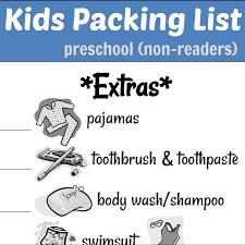 Kids Packing List Reader Non Version