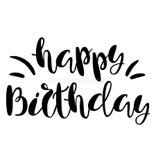 Inscription Happy Birthday Lettering Design Handwritten Typo