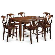 7 PC Counter Height Pub Set - High Top Table And 6 Dinette Chairs. By East  West Furniture Kitchen Design Counter Height Ding Room Table Tall High Hightop Table With 4 Leather Chairs Top Hanover Monaco 7piece Alinum Outdoor Set Round Tiletop And Contoured Sling Swivel Chairs High Kitchen Set Replacement Scenic Top Wning Amazing For Sets Marble Square And Glass Small Pub Style Island Home Design Ideas Black Cocktail Low Tables Astonishing Rooms Modern Wood Dark 2
