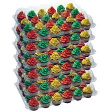 OccasionWise 6 Pack Cupcake Boxes Carrier Holds 24 Standard Cupcakes