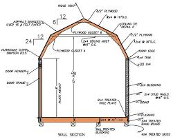 Free 12x16 Gambrel Shed Material List by 12 16 Gambrel Shed Plans U0026 Blueprints For Barn Style Shed