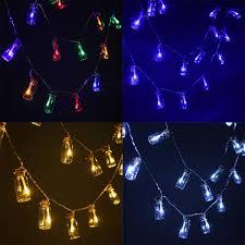 20 LED Battery Wishing Bottle Fairy String Light Christmas Outdoor