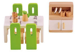 Hape Kitchen Set India by Hape Wooden Doll House Furniture Kitchen Set With Accessories Ebay