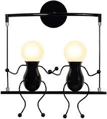 hawee humanoid kreative wandleuchte moderne wandle einfache kerzen wandleuchten deco max 60w e27 für kinder zimmer schlafzimmer treppen