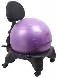 isokinetics inc exercise ball office chair black 52cm ball for