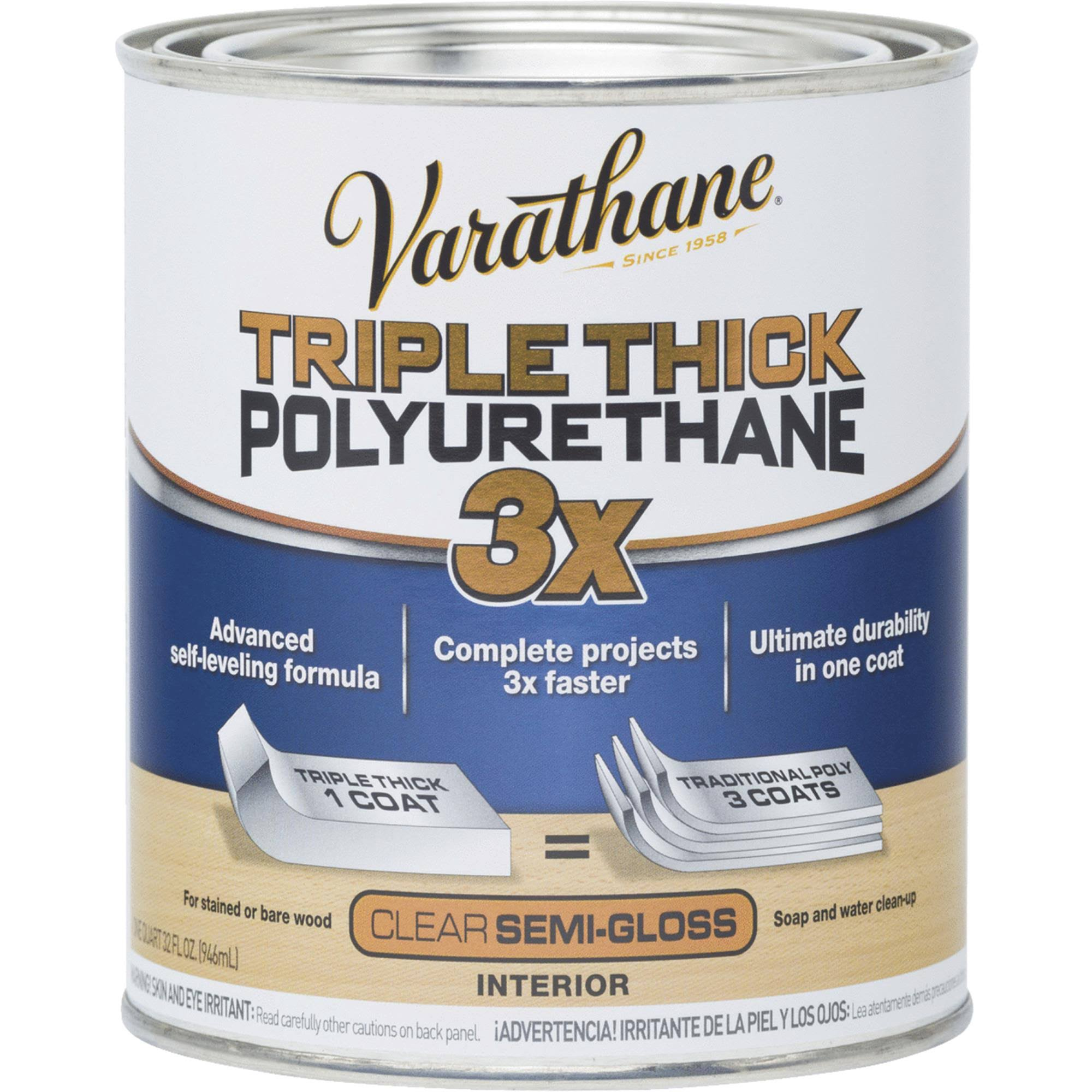 Rust-Oleum Varathane Triple Thick Polyurethane - Clear Semi-Gloss