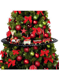Item 3 Mounted Christmas Tree Train Set Light Up Realistic Sounds Xmas Round Track
