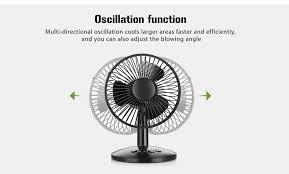 Oscillating Usb Desk Fan by Oscillating Table Fan 17 24 Online Shopping Gearbest Com