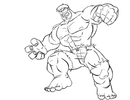 Download Coloring Pages Hulk Free Printable For Kids Images