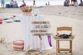 Carlsbad CA beach wedding decoration