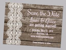 Country Save The Dates Rustic Date Printable Wood And