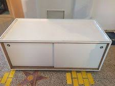 Retail Display Table Store Fixture Storage Case Sliding Doors On Casters