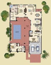 style house plans with interior courtyard h shaped house plans with pool in the middle pg3 courtyard