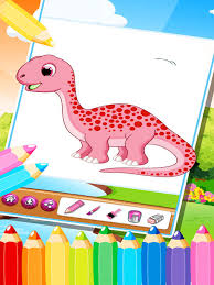 The Cute Dinosaur Coloring Book Drawing Pages 2