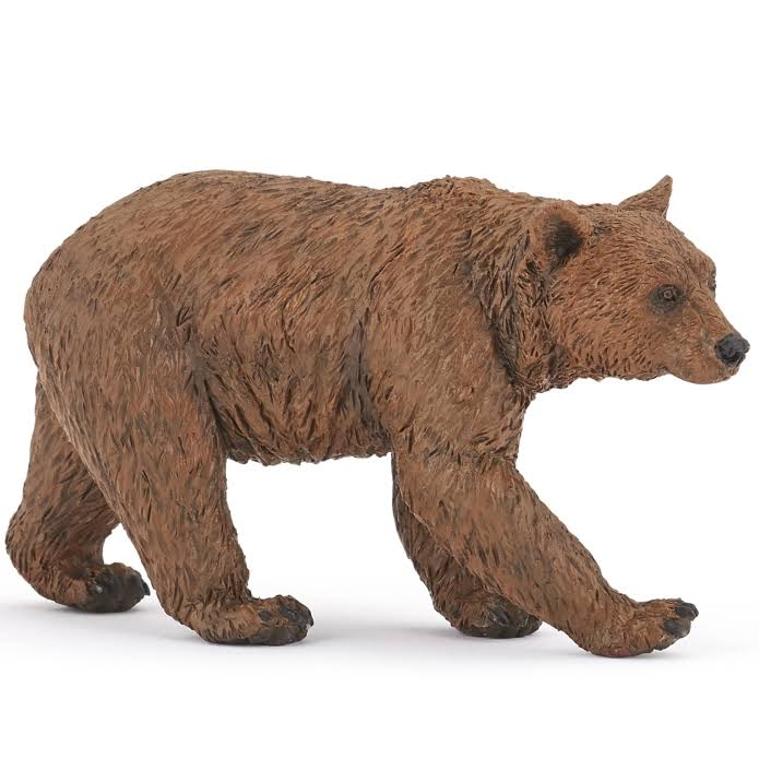 Papo 50240 Brown Bear Wild Animals Novelty Figure - 9cm