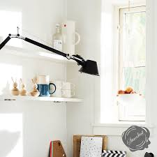artemide tolomeo classic wall l with arms stardust