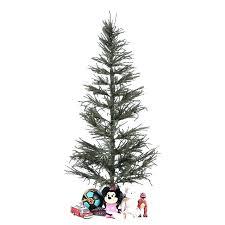 White Christmas Tree Lowes Skinny Artificial Trees Twig 6 Green Slim Small
