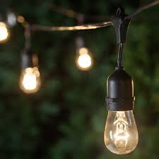 patio lights commercial clear patio string lights 24 s14 e26