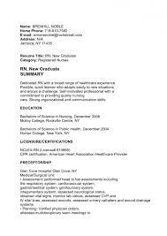 Resume Sample For New Nursing Graduate