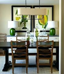 Dining Room Buffet Decorating Ideas Crystal Lamps Lamp