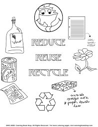 Beautiful Recycling Coloring Pages 51 For Your Kids With