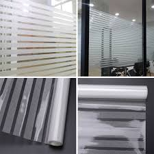 Generic 45200cm Stripe Glass Frosted Window Film Self Adhesive