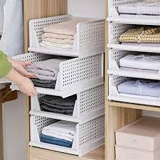 zicheng maoyi kleiderschrank organizer regal stapelbare aufbewahrungsboxen garderobe schrank organizer badezimmer aufbewahrungskorb stapelbar für