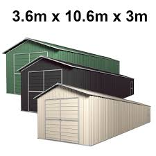 Double Barn Door Garage Shed 36m X 91m X 3m Gable Workshop With 6 Frames EXTRA High