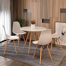 joolihome eiffel esstisch und 4 stühle holz stil für büro