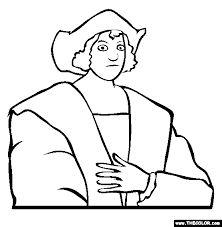 Columbus Day Coloring Pages Of