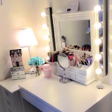 small bedside vanity with ikea micke desk acrylic drawer