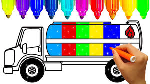 Oil Truck Coloring Pages | Learn Colors For Kids With Fun Coloring ...