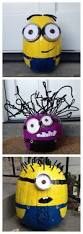 Minion Pumpkin Carvings by Spray Paint Minion Pumpkins For Halloween Todaysmama