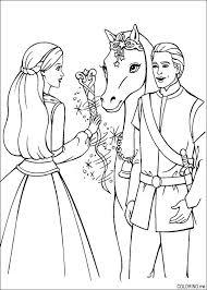 Coloring Page Barbie Magic Pegasus And Ken