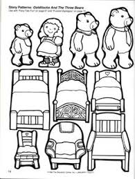 Storytime And More Goldilocks The Three Bears Story Patterns Coloring Page Printable