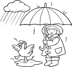 Girl And Duck In Rain